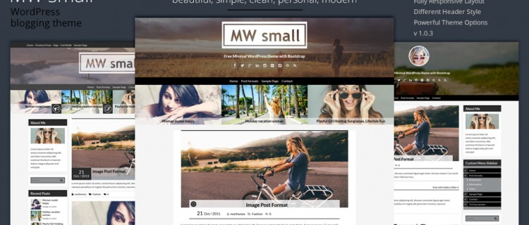 Free WordPress theme MW Small – clean and responsive
