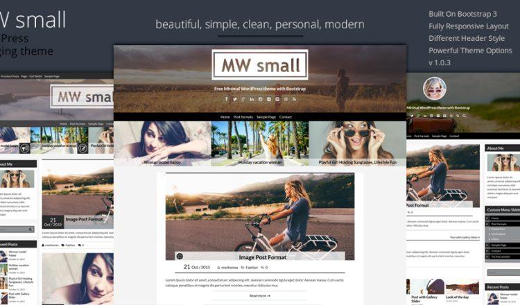 Free WordPress theme MW Small – clean and responsive